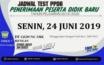 Jadwal Test PPDB 2019